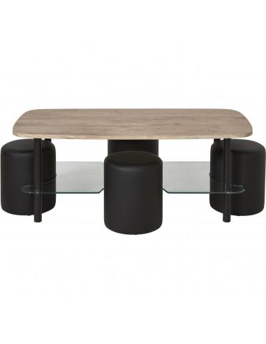 Ensemble Pouf Table Basse 14850BS...