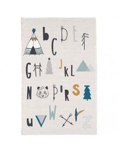 TODAY Tapis Coton Alphabet 60 x 120 cm