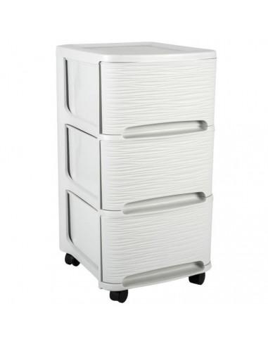 webdrop-market METALIK Etagere meuble style industriel en acier laqué époxy anthracite - L 80 cm