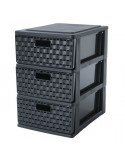 webdrop-market METALIK Etagere meuble style industriel en acier laqué époxy blanc - L 80 cm